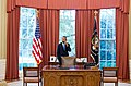 President Barack Obama talks on the phone with Solicitor General Donald Verrilli.jpeg