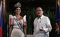 President Benigno S. Aquino III receives Miss Universe 2015 Pia Wurtzbach 012616.jpg