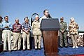 President George H. W. Bush and Mrs. Barbara Bush visit the Military Air Command Ramp.jpg