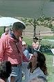 President Ronald Reagan and Patti Davis at Nancy Reagan's Birthday Party at Rancho Del Cielo.jpg