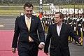 Presidente de Georgia arribó a Quito (9509762763).jpg