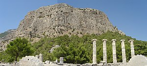 Battle of Mycale - Part of Mount Mycale, viewed from the ruins of Priene
