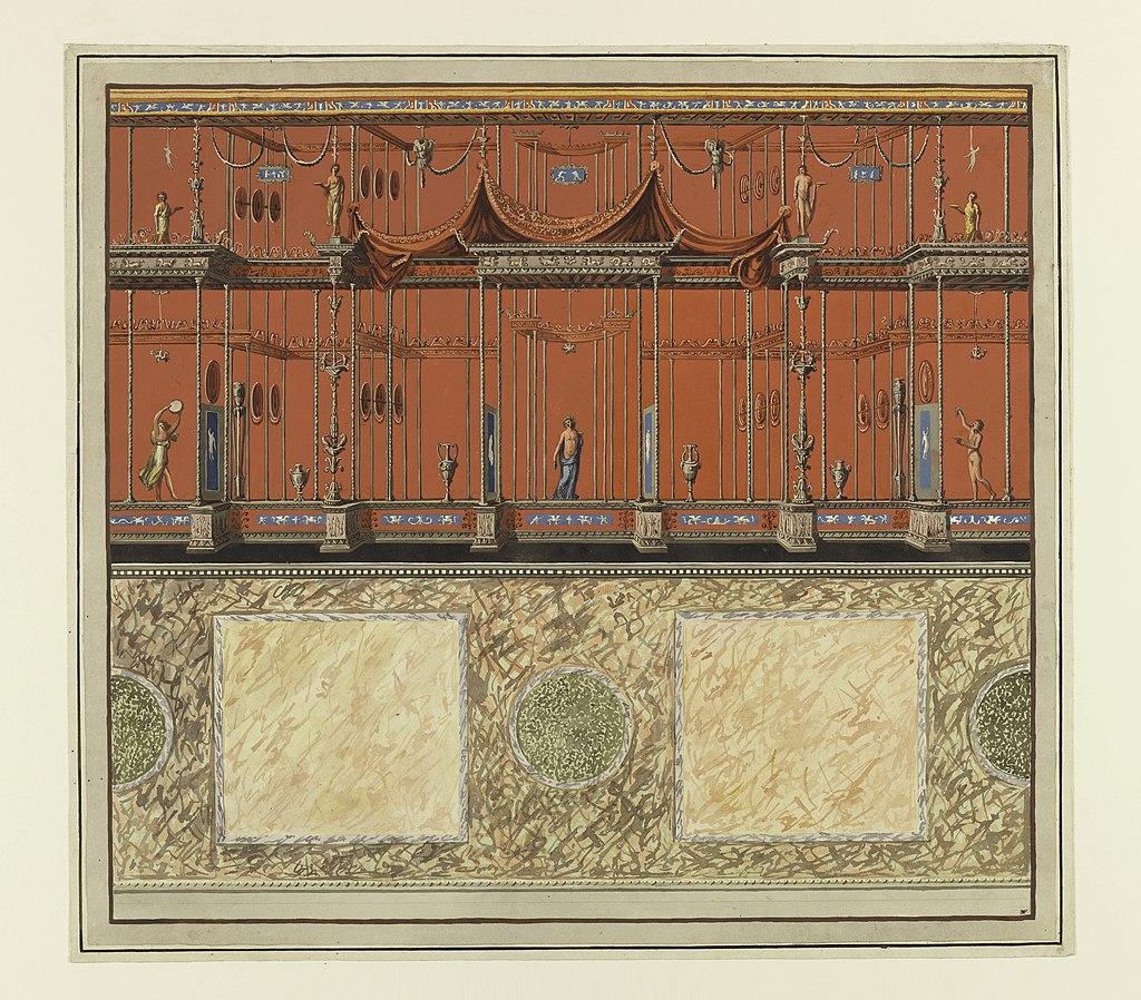 Print, Wall Decoration, Domus Aurea, Rome, 1776–77 (CH 18438795)