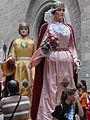 Processó de Sant Bartomeu - 08 Jordi i Montserrat - gegants del Poble Sec d'Igualada.JPG