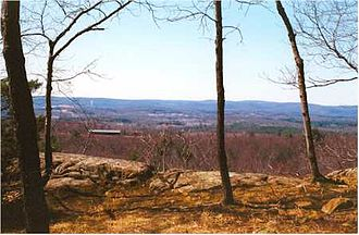 Southwick, Massachusetts - View from Provin Mountain over the Southwick countryside (along the Metacomet-Monadnock Trail)