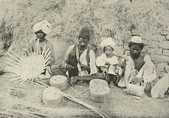 Basket weaving - Punjabi Basketmakers, c. 1905