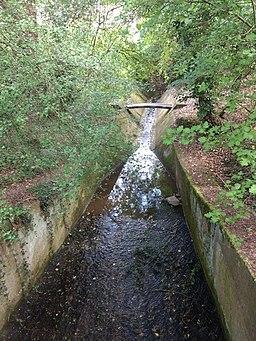 Pymmes brook immediately south of Folly Bridge