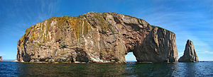 Percé Rock - Percé Rock in its present form with one arch