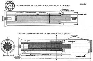 QF 14 pounder Maxim-Nordenfelt naval gun