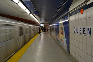 Queen station - Image: Queen Subway Station