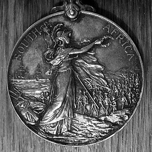 Dudley Clarke - The Queen's South Africa Medal, which Clarke later attempted to claim for his infant presence at the Siege of Ladysmith in 1899