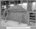 Queensland State Archives 3706 Rocklea workshops assembly of first web of main shoe Brisbane 8 October 1936.png
