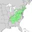 Quercus montana range map 1.png