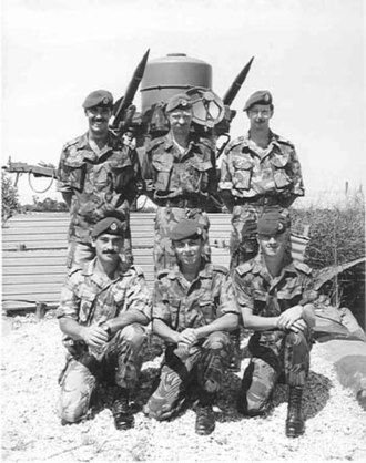 RAF Regiment - RAF Regiment in 1988 on tour in Belize with Rapier missile system