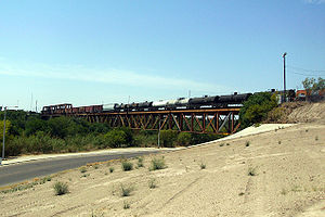 Texas Mexican Railway International Bridge - Image: Railway Bridge