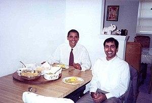 Raja Krishnamoorthi - Krishnamoorthi and Obama in 2002