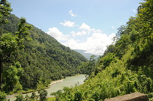 Rangeet River - Rangeet river near Tashiding, South Sikkim