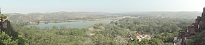 Ranthambore National Park - A panoramic view of Ranthambhore NP from Ranthambhore Fort.