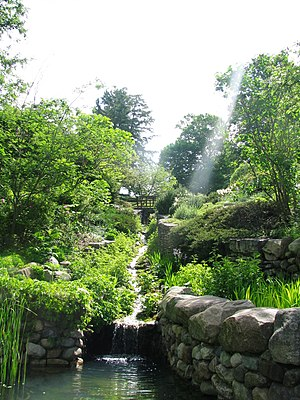 Oldfields - Present day view from the lower portion of the ravine garden designed by Percival Gallagher.