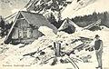 Razglednica razvalin Aljaževega doma 1909.jpg