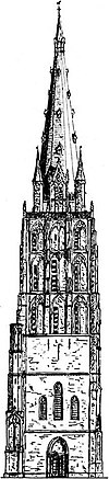 reconstruction sint-walburgiskerk tower 1484