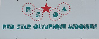 Red Star F.C. - Red Star sign in front of Stade Bauer