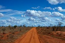 Red roads of Tsavo East