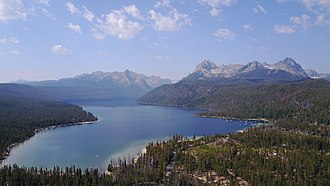 Redfish Lake - Redfish Lake and the Sawtooth Range