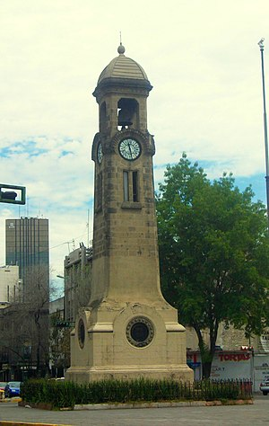 Colonia Juárez, Mexico City - Clock tower on Bucareli Street