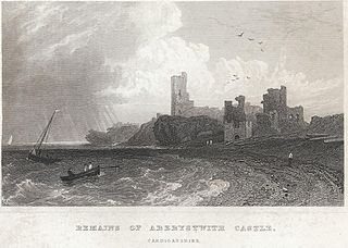 Remains of Aberystwith Castle, Cardiganshire