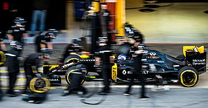 Renault R.S.16 - The R.S.16 in testing livery during pre-season testing in Barcelona