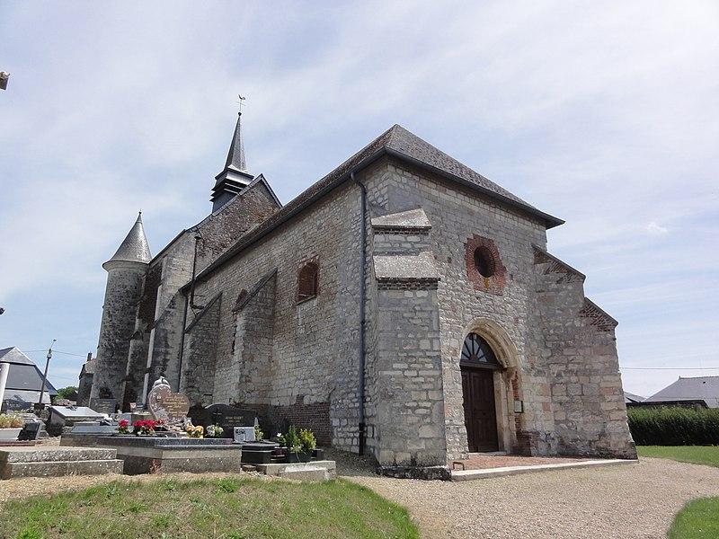 Renneval (Aisne) église, nord-ouest