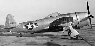 """Pintle - The forward-raked main gear struts on the Republic P-47 partly used """"pintle angling"""" to allow them to clear the forward wingspar during retraction."""