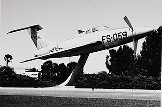 Republic XF-84H - The first XF-84H on display in Bakersfield