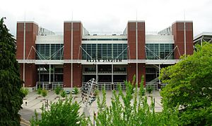 Reser Stadium - The renovated East Side entrance