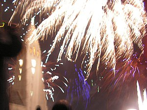 English: New Years Eve at Hallgrímskirkja Reyk...