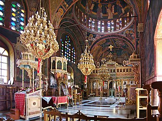 Christian culture - Church of Agios Panteleimonos, Greece.