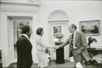 Helen DeVos - Devos and her husband with President Gerald Ford, 1974