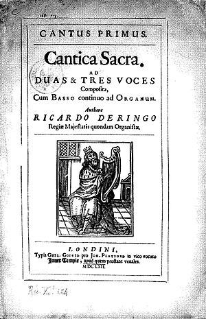 Richard Dering - John Playford's 1662 edition of Richard Dering Cantica Sacra I