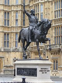 Richard I statue outside Parliament.JPG