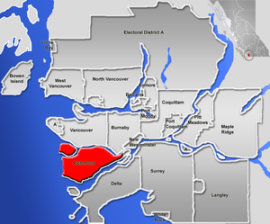 Lulu Island - Richmond, British Columbia is on Lulu Island, the larger of the two red islands