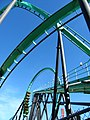 Riddlers Revenge vertical loop and dive loop.jpg