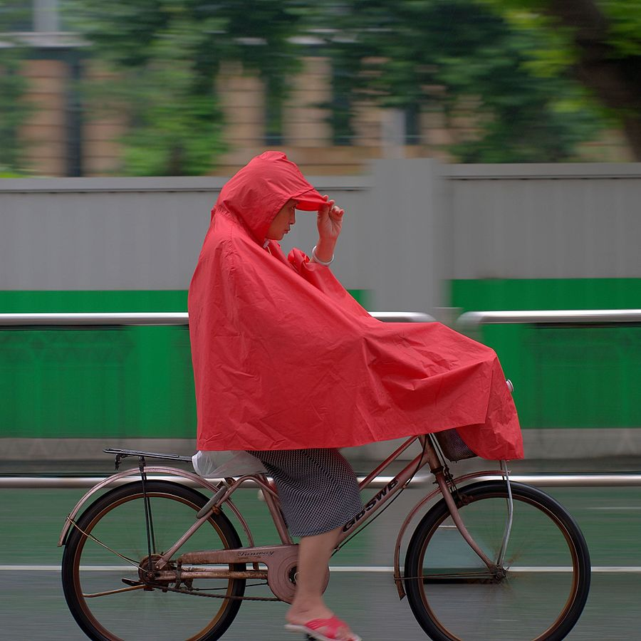 Spring Bicycling in the Rain