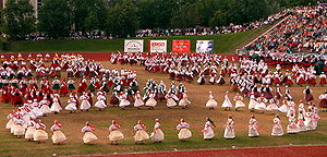 Music of Estonia - Ring Dance in XVII Estonian Dance Celebration (2004)