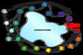 Ring Species (gene flow around a barrier).png