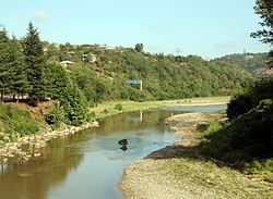 River Kvirila between Zestaponi and Shorapani (Photo A. Muhranoff, 2010).jpg