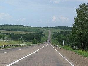 Abansky District - Kansk–Aban auto route