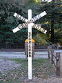 Roaring Camp RR crossing sign.JPG