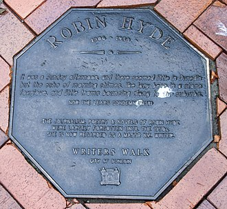 Robin Hyde - Image: Robin Hydel memorial plaque in Dunedin