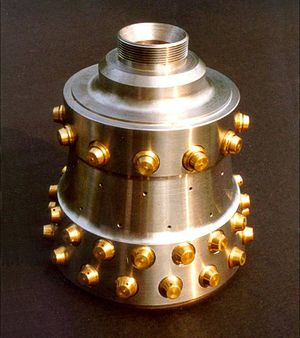 Konrad Dannenberg - Image: Rocket engine combustion chamber 165507